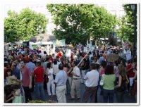 Entre 8.500 y 9.000 personas, según los organizadores, se manifiestan en Almendralejo convocados por la Plataforma Refinería No. También estuvieron presentes los integrantes de Térmicas NO.
