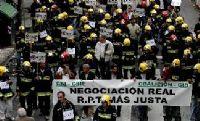 Los bomberos de Cáceres reanudan su lucha