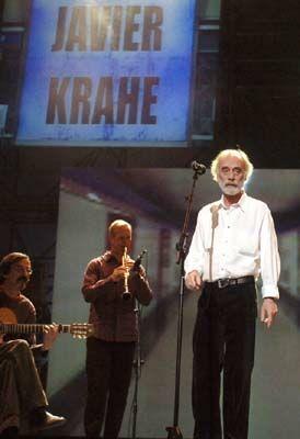 Concierto de Javier Krahe en la Escuela de Arte de Mérida