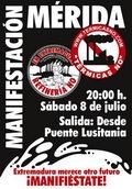 Manifestación 8 de Julio en Mérida.
