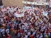 Unas 3.000 personas se manifestaron en Bohonal de Ibor (Cáceres) contra la instalación de un cementerio nuclear