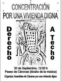 Asamblea de Cáceres por una vivienda digna