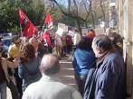 Los trabajadores del INSS de Cáceres volvieron a concentrarse hoy en demanda de mejoras laborales.