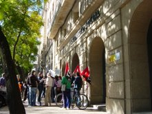 Los trabajadores del INSS de Cáceres se concentraron de nuevo