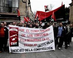 Huelga de tabiqueros en Cáceres y comarca