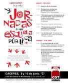 II Jornadas de Escuela Pública en Cáceres