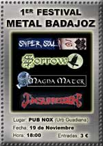 Primer Festival Metal de Badajoz
